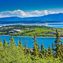 Island in the lake, Skagway, Alaska