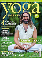 Krishnatakis at the Yoga Journal Germany Cover. February 2014