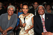 October 13, 2012- Bronx, NY: Actress Kerry Washington with her parents at the Black Girls Rock! Awards presented by BET Networks and sponsored by Chevy held at the Paradise Theater on October 13, 2012 in the Bronx, New York. BLACK GIRLS ROCK! Inc. is 501(c)3 non-profit youth empowerment and mentoring organization founded by DJ Beverly Bond, established to promote the arts for young women of color, as well as to encourage dialogue and analysis of the ways women of color are portrayed in the media. (Terrence Jennings)