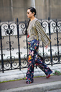 Dries Van Noten Top and Pants, Outside the Show
