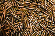 Confiscated &amp; decommissioned poacher's bullets<br /> Mbomo African Park's Congo Headquarters<br /> Odzala - Kokoua National Park<br /> Republic of Congo (Congo - Brazzaville)<br /> AFRICA