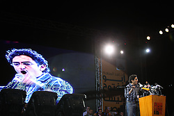 "The crowd chanted ""Ghonim"" as Wael Ghonim gave his backing to Aboul Fotouh.."