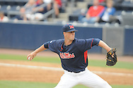 Ole Miss' Mike Mayers pitches vs. Tennessee at Oxford-University Stadium in Oxford, Miss. on Saturday, May 12, 2012.
