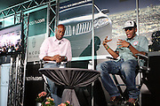 l to r: Kevin Frazier and Mos Def at Lincoln Presents ' Off the Red Carpet ' during the 2008 American Black Film Festival held at the Sofitel Hotel on August 8, 2008