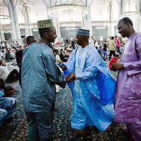 Roma - 30 Agosto 2011.Preghiera di fine Ramadan alla Moschea di Roma.foto:Stefano Meluni