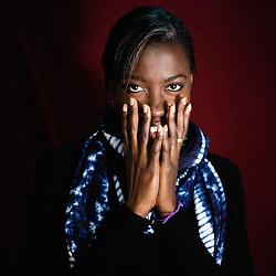 "Angele Diabang-Brener's portrait during Brussels' Festival des Cinemas Africains (African Film Festival). She's a documentary film's director, including ""Yande Codou, la griotte de Senghor"". Commune d'Ixelles, Brussels. April 4, 2009. Photo : Antoine Doyen"