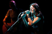 Brandi Carlile performs live on stage at Kings College on April 21, 2008 in London, England.  (Photo by Simone Joyner)