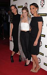 Caroline Ford, Sophie Colquhoun and Sasha Frost attend Anti-Social - UK Film Premiere at Cineworld, Haymarket, London on Tuesday 28 April 2015,