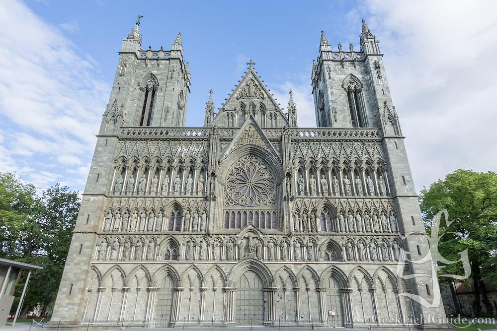 Nidaros Cathedral in Trondheim, Norway