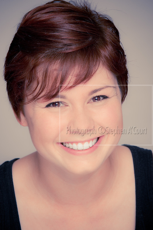 Studio headshots with NZ actor Grace Morgan-Riddell, for her talent agency.