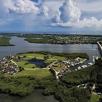 Wabasso Causeway Florida<br /> Aerial image from 120 meters high
