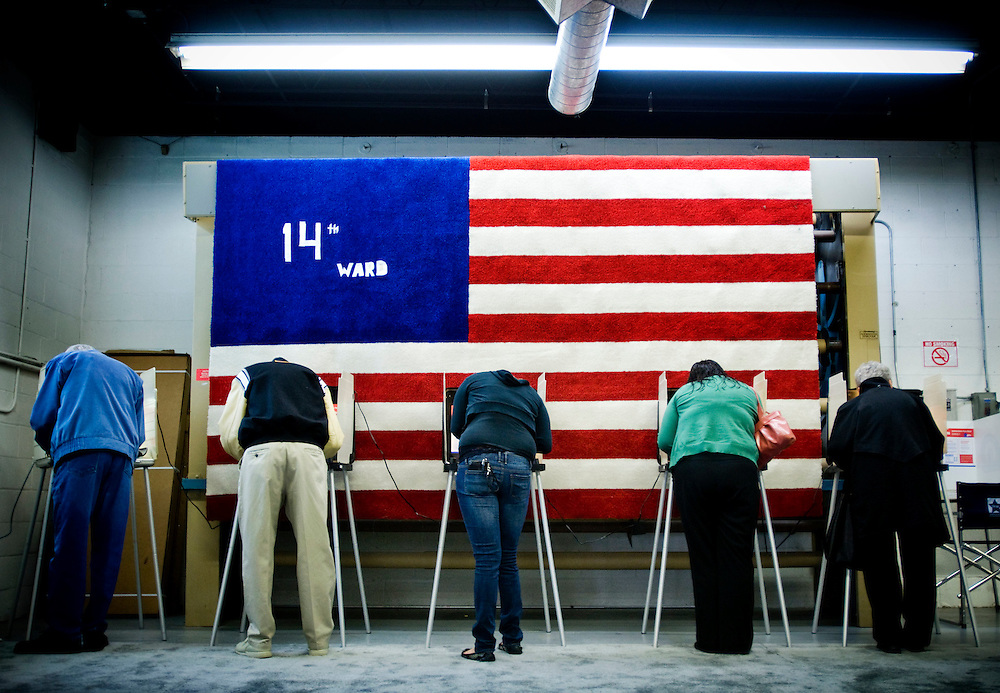 America votes..People voting at the 14th ward polling station on Archer Avenue in Chicago....Chris Maluszynski /Moment / Agence VU