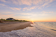 Hamptons Beach scenes with homes