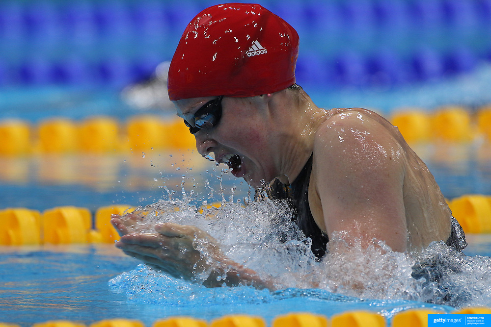 Hannah Miley, Great Britain, in action during the Women's 400m Individual Medley during the swimming heats at the Aquatic Centre at Olympic Park, Stratford during the London 2012 Olympic games. London, UK. 28th July 2012. Photo Tim Clayton