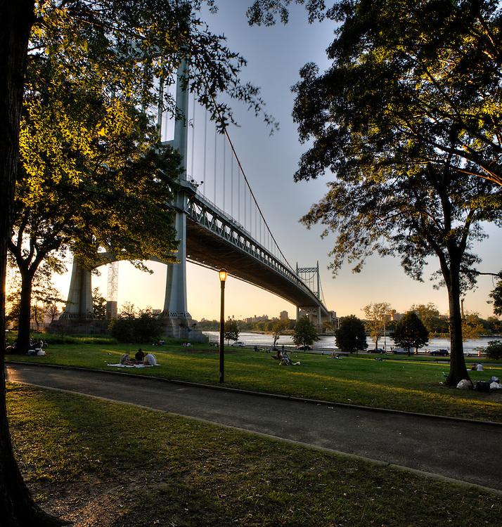 Tri-borough Bridge In Astoria Park, Queens, New York City.