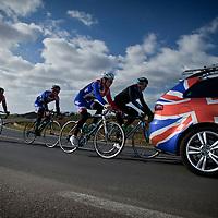 Great Britain track pursuit team training in Mallorca, January 2012