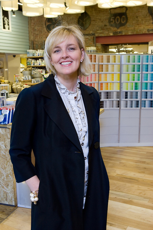 Sarah Beatty, founder and president of Green Depot, a green building materials supplier in New York.