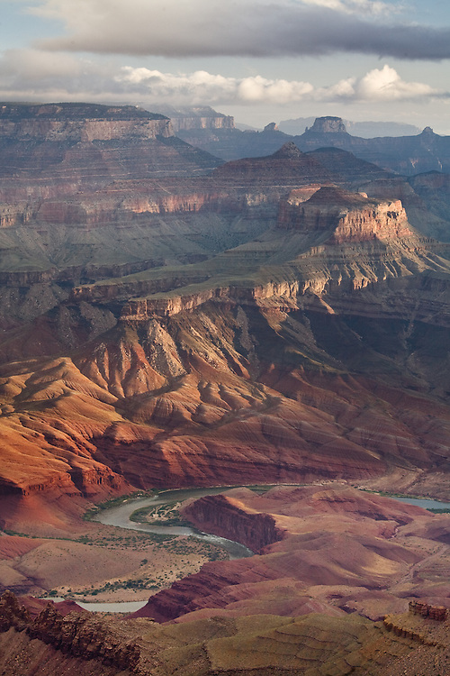 The Colorado River and Unkar Delta viewed from Lipan Point. Grand Canyon National Park, Arizona.