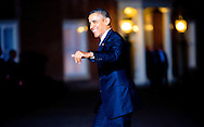 24-3-2014 THE HAGUE  - Arrival of Barack Obama for the NSS summit  diner at the Palace Huis ten Bosch . COPYRIGHT ROBIN UTRECHT