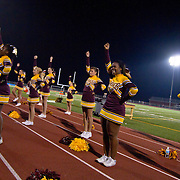 10/05/12 - Middletown, DE - Appoquinimink Football - St. Elizabeth cheerleading squad cheering from the sidelines during a Week 5 DIAA football game against Appoquinimink Friday, Oct. 05, 2012, at Appoquinimink High School in Middletown DE. ..SAQUAN STIMPSON/Special to The News Journal
