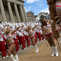 TUSCALOOSA, AL -- October, 24, 2009 -- University of Alabama Crimsonettes perform with Million Dollar Band in front of the Amelia Gayle Gorgas Library prior to the Crimson Tide's 12-10 victory over the University of Tennessee Volunteers at Bryant-Denny Stadium in Tuscaloosa, Ala., Saturday, Oct. 24, 2009.