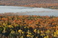 A band of morning fog over the valley near Copper Harbor,<br />
