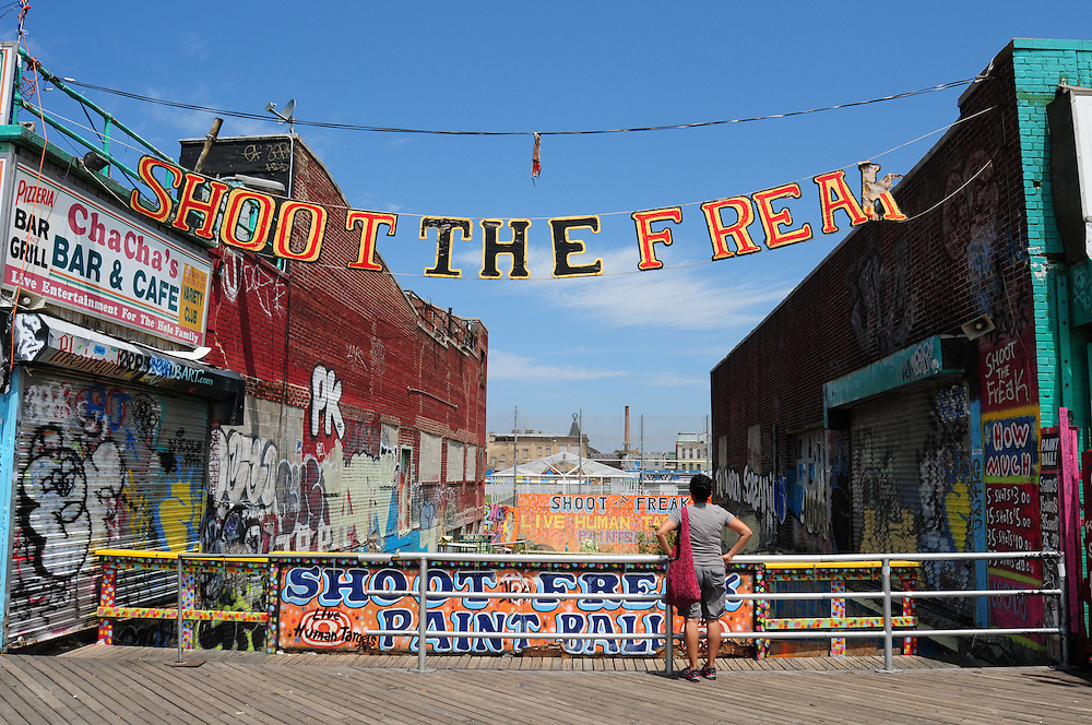 Shoot The Freak at Coney Island