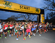 EAST LONDON, SOUTH AFRICA - FEBRUARY 20: runners at the start during the ASA Marathon Championships in East London on February 20, 2015 in South Africa. (Photo by Roger Sedres/Gallo Images)