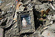 Reminder of a small loved one in the wreckage that was Banda Aech. On December 26th, 2004 a Tsunami devastated the city of Banda Aceh leaving many thousands of people dead and millions homeless.