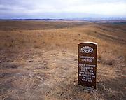 AA02271-02...MONTANA - San Arc Sioux Warrior memorial on Reno-Benteen Battlefield in Little Bighorn National Monument.