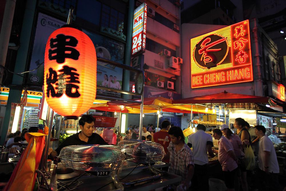 Chinatown food stalls on Jalan Sultan.