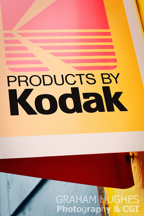 Products By Kodak Sign on shop exterior wall in Tobermory, Isle Of Mull.