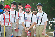 John Arrechea's grandsons in the 4th of July parade in Oxford, Miss. on Thursday, July 4, 2013.
