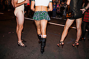 WASHINGTON, D.C. - October 28: Drag Queens gather for the annual High Heel  Race, also known as the DC Drag Race, where they parade around and race down 17th Street in North West Washington, D.C. on October 28, 2014.