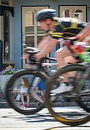 Spectators line the streets during the Tour de Medford bike race, Saturday, June 28,  2014  (PHOTO Bryan Woolston / @woolstonphoto)