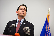MADISON, WI — SEPTEMBER 21: Governor Scott Walker (R-WI) announces his decision to end his Presidential Campaign during a press conference at the Edgewater Hotel, Monday, September 21, 2015.