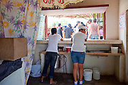 Food kiosk in Playa Blanca, Holguin, Cuba.