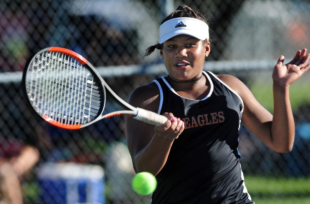 girls state tennis3/sports/jim thompson/ Girls 6A State Tennis championships.  Thursday May. 04, 2017. (Jim Thompson/Albuquerque Journal)