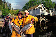 Telegraph Cove, Vancouver Island, British Columbia, August 2006. the tiny hamlet of Telegraph Cove is a paradise for salmon and halibut fishing, as well as one of the best places in the world to join a whale watching tour to see the orca Killer Whales. Photo by Frits Meyst/Adventure4ever.com