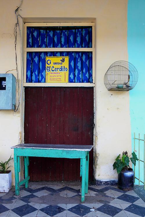Butcher shop in San Juan y Martinez, Pinar del Rio, Cuba.