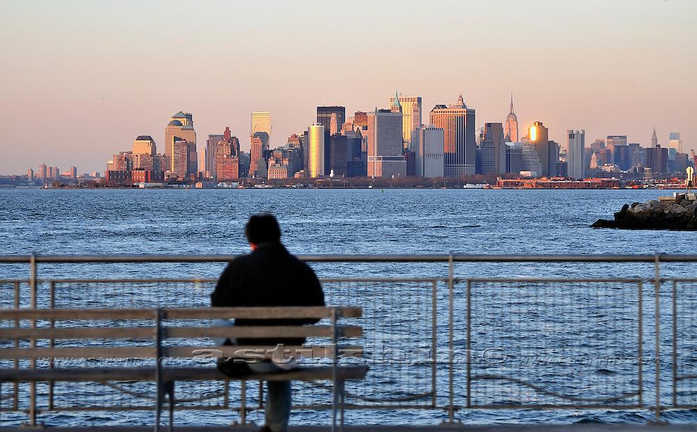 Sitting on front of Manhattan