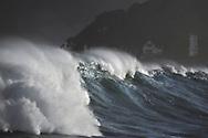 Large rolling wave, Houghton Bay, Wellington, New Zealand.
