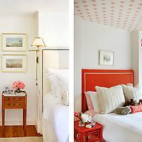Bedroom details of Beacon Hill Townhouse. Designer: Patricia McDonagh Interior Design