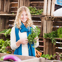 Actress Liza Binkley, photographed at the Union Square Farmers Market