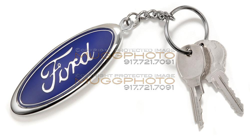 ford logo keychain and keys
