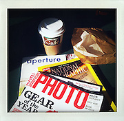 """photographer's breakfast..From the series """"Fake Polaroids"""", iPhone photos taken in New York...."""