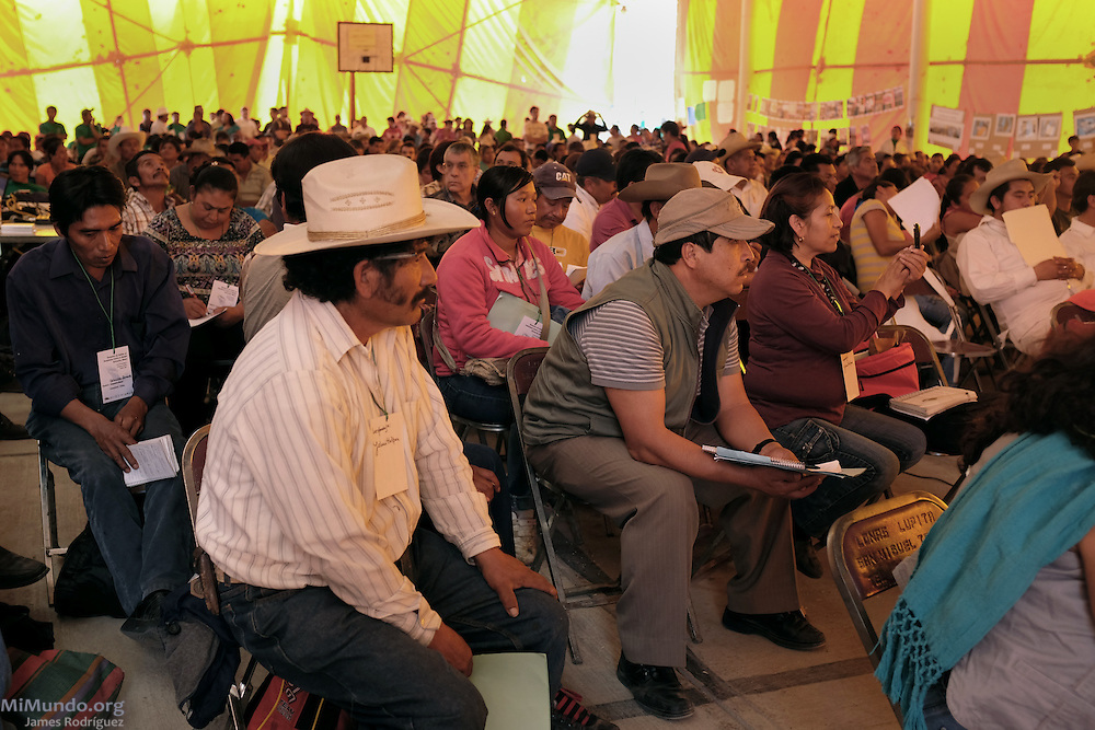 Hundreds of people from mining-affected communities throughout Mexico gathered for three days to exchange experiences, renew alliances and discuss strategies during the 2014 Mexican Network of Mining-Affected Peoples (REMA, for its initials in Spanish) Encounter. Tlamanca, Zautla, Puebla, México. March 15, 2014.