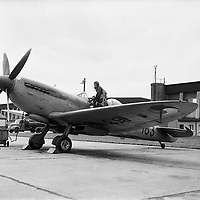 The last Spitfire used by the Aircorps departs Baldonnel. The Spitfire TR9 '163' was in use from 1951 as a training aircraft..19.05.1961