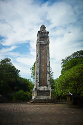 Tower within the tomb complex of Emperor Tu Duc, Hue, Vietnam, Southeast Asia