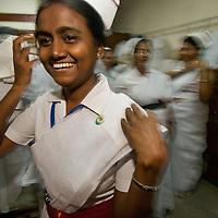 Nurses at a hospital in Dhaka, Bangladesh that treats Diarrhoea type disease.